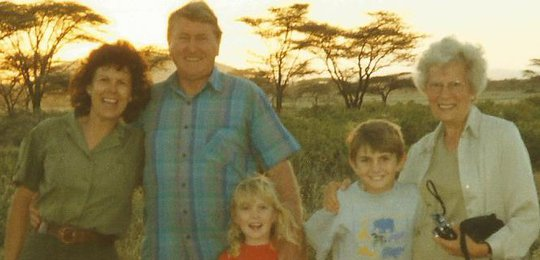 Our family on safari in 2000.