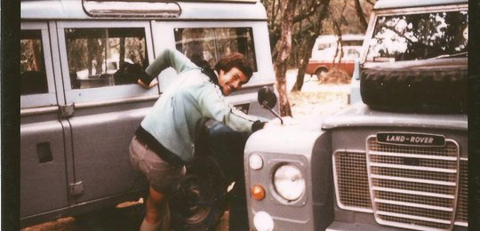 Jonathan Scott in his youth- working at Jock's Mara River Camp as the manager. This was the start of what would become an extraordinary and successful career in wildlife and as a wildlife presenter.
